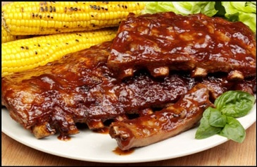 Smoked Baby Back Ribs and Corn - Creole Food Catering Services Oakland by Carolyn's Creole Kitchen
