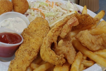 Fried Seafood and Fries by Carolyn's Creole Kitchen - Soul Food Oakland