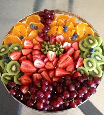 Delicious Fruit Plate at Carolyn's Creole Kitchen - Louisiana Food Catering Oakland