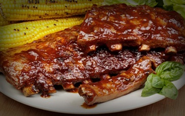 Smoked Baby Back Ribs and Corn - Creole Restaurant Oakland by Carolyn's Creole Kitchen